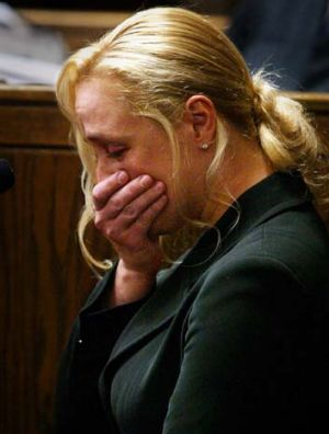 Personal lows ... Mindy McCready in court testifying against former boyfriend William McKnight in 2005.