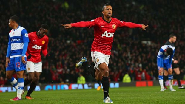 Instrumental ... Nani made his mark during the FA Cup victory over Reading.