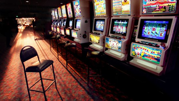Poker machines: a lonely addiction.