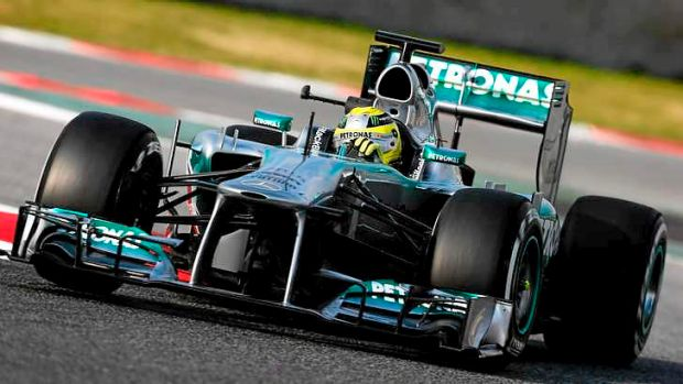 Fastest ... Nico Rosberg of Mercedes GP.