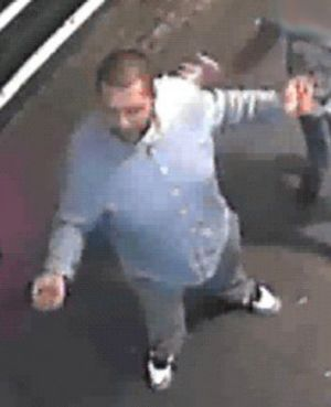 Police want to speak with this man over the assault of a Sydney skateboarder.