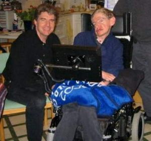 Peter Ford with Stephen Hawking.
