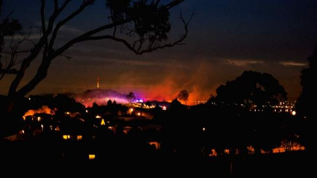 Firefighters managed four hazard reduction burns in Canberra's north on Wednesday night.