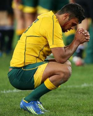 Mediation … Wallaby Kurtley Beale. Photo: Getty Images