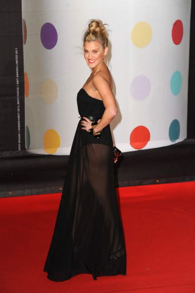 Ashley Roberts attends the Brit Awards 2013 at the 02 Arena.