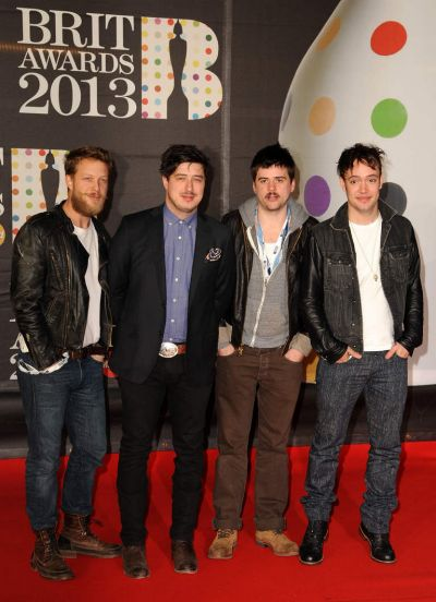 Mumford & Sons  on the red carpet.