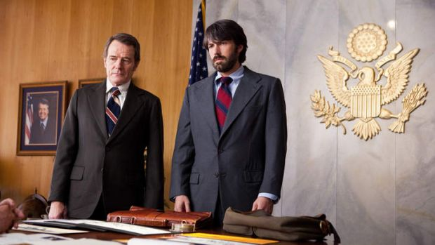 Political contender … Bryan Cranston and Ben Affleck in best-picture favourite<i> Argo</i>.