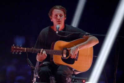 Singer Ben Howard performs during the BRIT Awards.