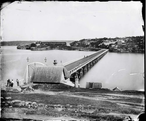 Glebe Island Bridge 1873.