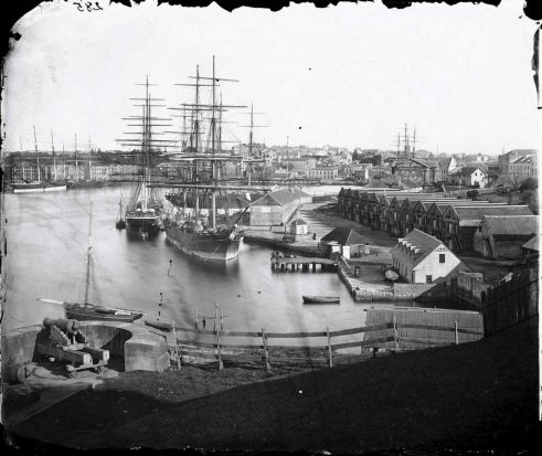 Circular Quay from Dawes Battery, 1873.