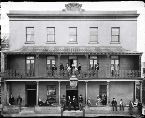 Post Office Hotel, Sydney April 1874.