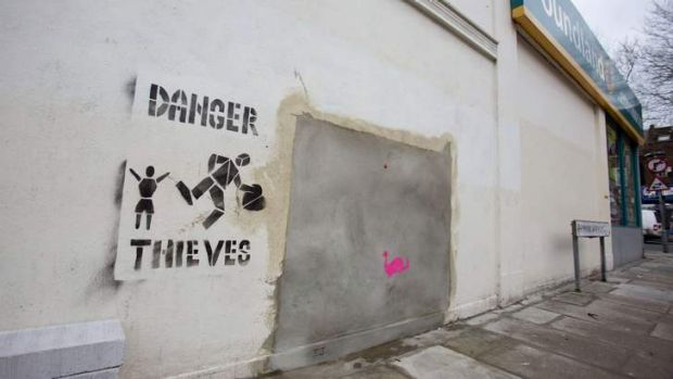 The mural was removed from a London wall.