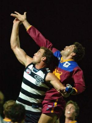 In spotlight: Steven King and Darryl White in the 2003 game.