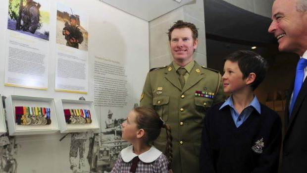 Australia's latest VC recipient Corporal Daniel Keighran VC, unveiled a display of his Victoria Cross in The Australian ...