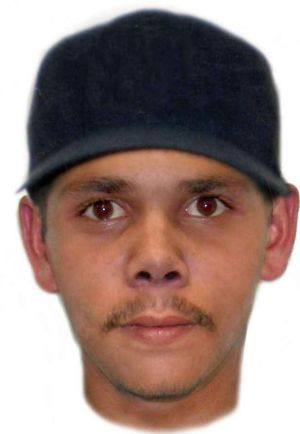 A composite of one of the men police are seeking over the assault of a deaf and mute man in Swan View.