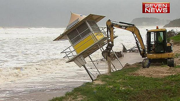 A lifeguard tower at Miami Beach has collapsed after erosion on the beach.