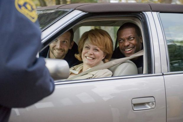 "(L-R) Actors Bradley Cooper, Jacki Weaver and Chris Tucker star in the film ""Silver Linings Playbook"" (2012)."
