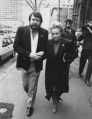 Derryn Hinch and his wife Jacki Weaver leaving court after a magistrate ordered Hinch to do 250 hours of unpaid ...