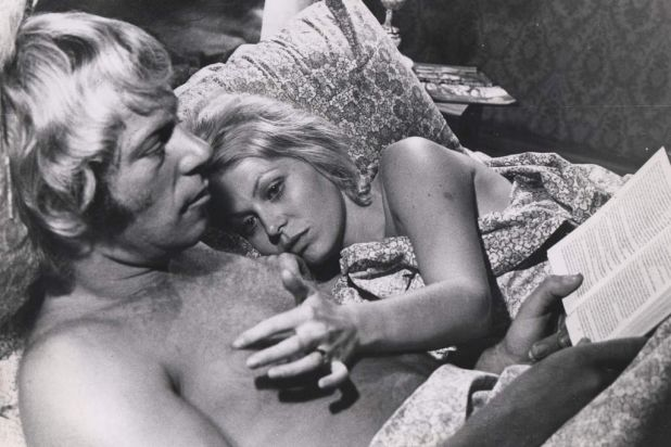 "Jack Thompson and Jacki Weaver in film still from ""Petersen""."