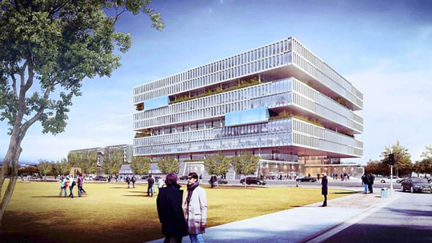 A rendering shows Samsung's new campus for its semiconductor division.