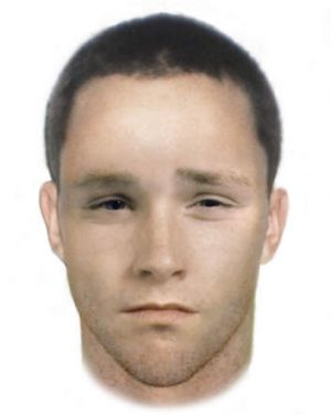Facefit of one of the men involved in a Kambah home invasion.