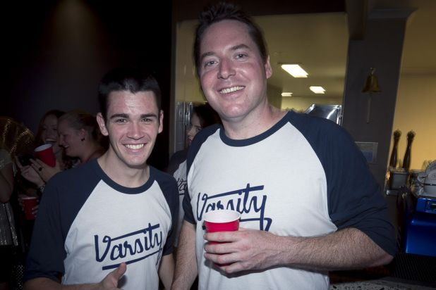 The opening of the Varsity Bar, an American-college themed bar.