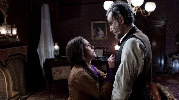 Sally Field and Daniel Day-Lewis in <i>Lincoln</i>.