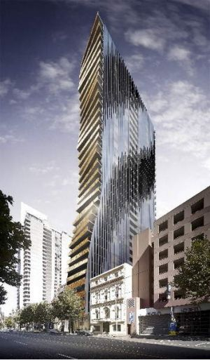 The proposed apartment tower.