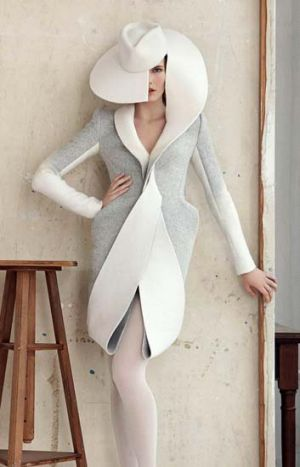 Baa-d news ... Dion Lee's design failed to take out the $100,000 Woolmark prize.