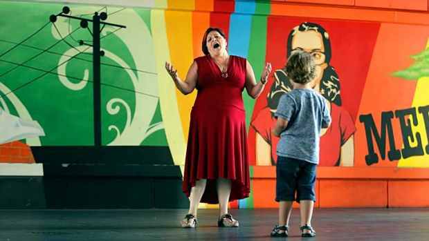 Dr Robyn Mills, who won the award for Melbourne's best busker, sings at Southbank. She has embraced singing after a ...
