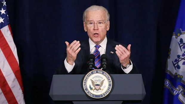 Leading the fight against gun violence in the US ... Vice President Joe Biden.