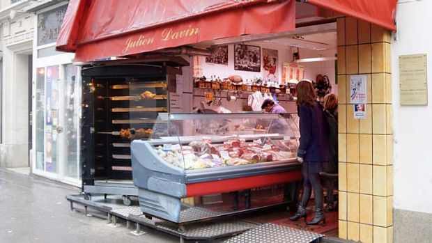 In demand … a horse meat specialist in Paris. Sales in France soared after the scandal broke.