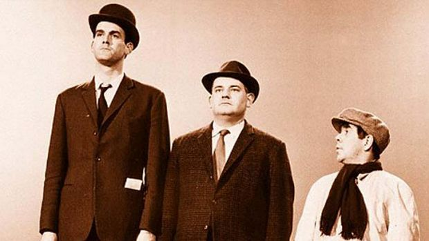 Class act … John Cleese and the two Ronnies examined social structure.