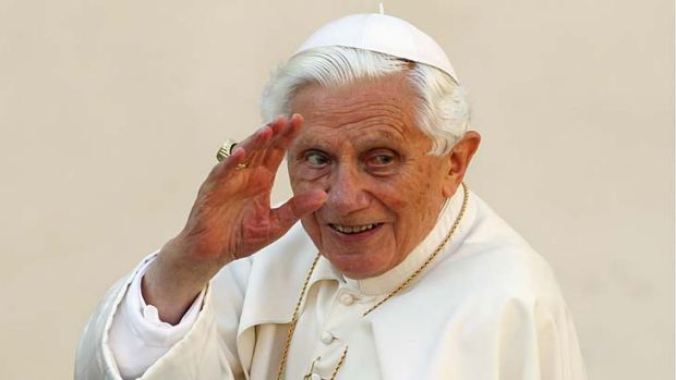 Revealing inquiry … Pope Benedict.