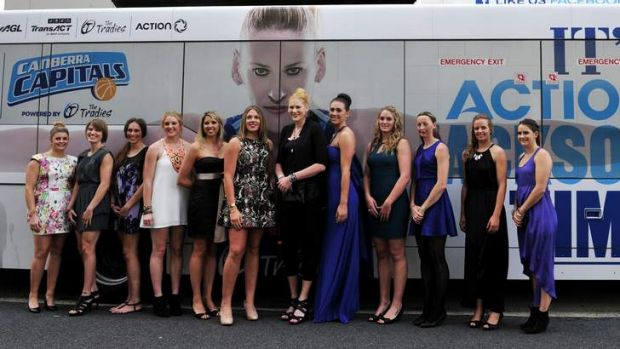 Canberra Capitals players dress up for their end of year presentation dinner at Woden Tradies.