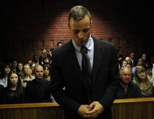 Oscar Pistorius in court on Friday.