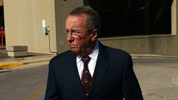 Champion trainer … Rick Curl leaves court after his guilty plea.