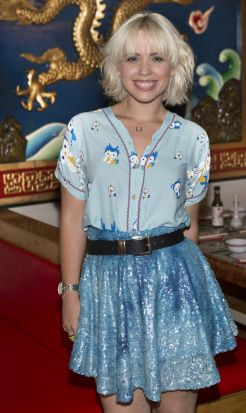 Feeling blue: Kate Bollard at the Happy Palace launch in the city.