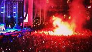 Fans burned by flare at Soundwave (Video Thumbnail)