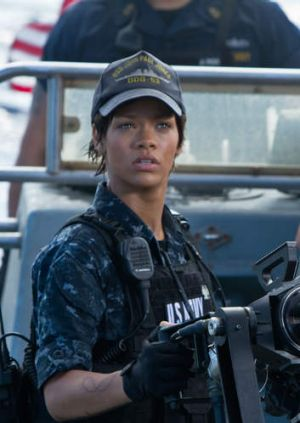 Debut dud ... Rihanna in <i>Battleship</i>.