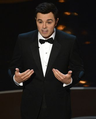 Seth MacFarlane opens the 85th Academy Awards at the Dolby Theatre.