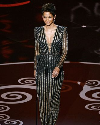 A sparkling Halle Berry takes to the stage.