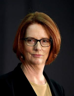 Julia Gillard … taking a hard line on self-harming asylum seekers.