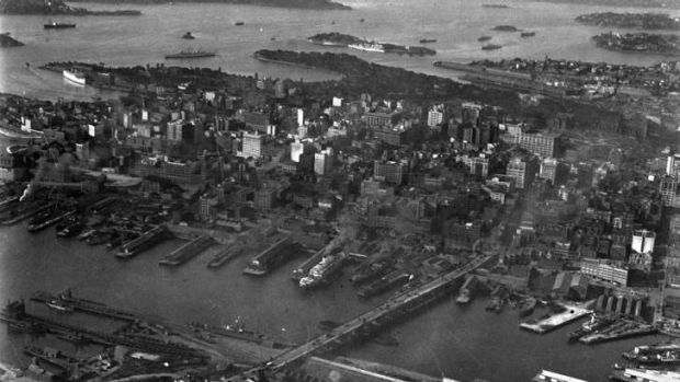 Sydney in the Depression years, probably about 1930. Height restrictions meant only medium-rise buildings, and - long ...