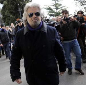Beppe Grillo ... his Five Star Movement won about a quarter of the vote.