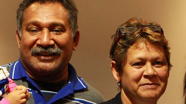 Family ties ... Ben Barba's parents Ken and Kim.