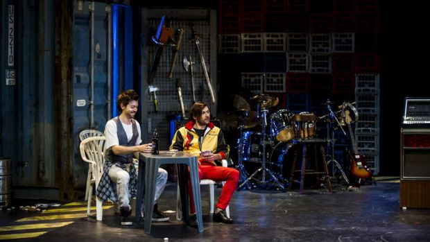 A scene from Bell Shakespeare's Henry IV, with Prince Hal played by Matthew Moore and Poins, played by Yalin Ozucelik. ...