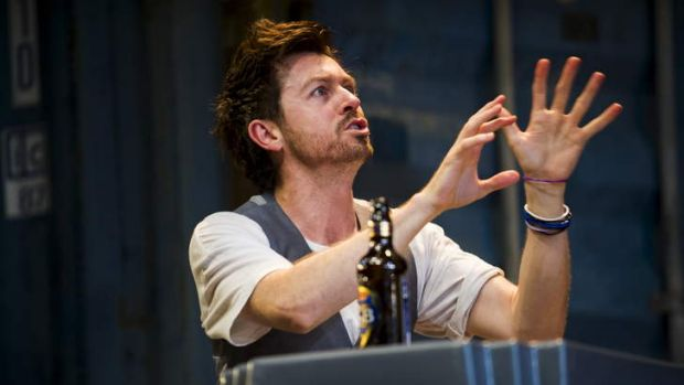 A scene from Bell Shakespeare's Henry IV, with Prince Hal played by Matthew Moore. Photo: Rohan Thomson.