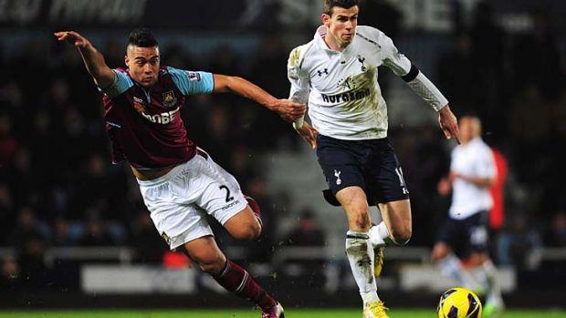 Spurs' saviour ... Gareth Bale.