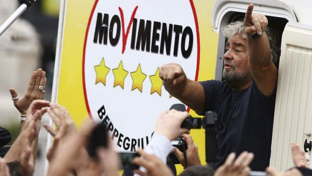 Five-Star Movement activist and comedian Beppe Grillo.